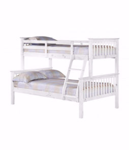 Trio Wooden Bunk Bed
